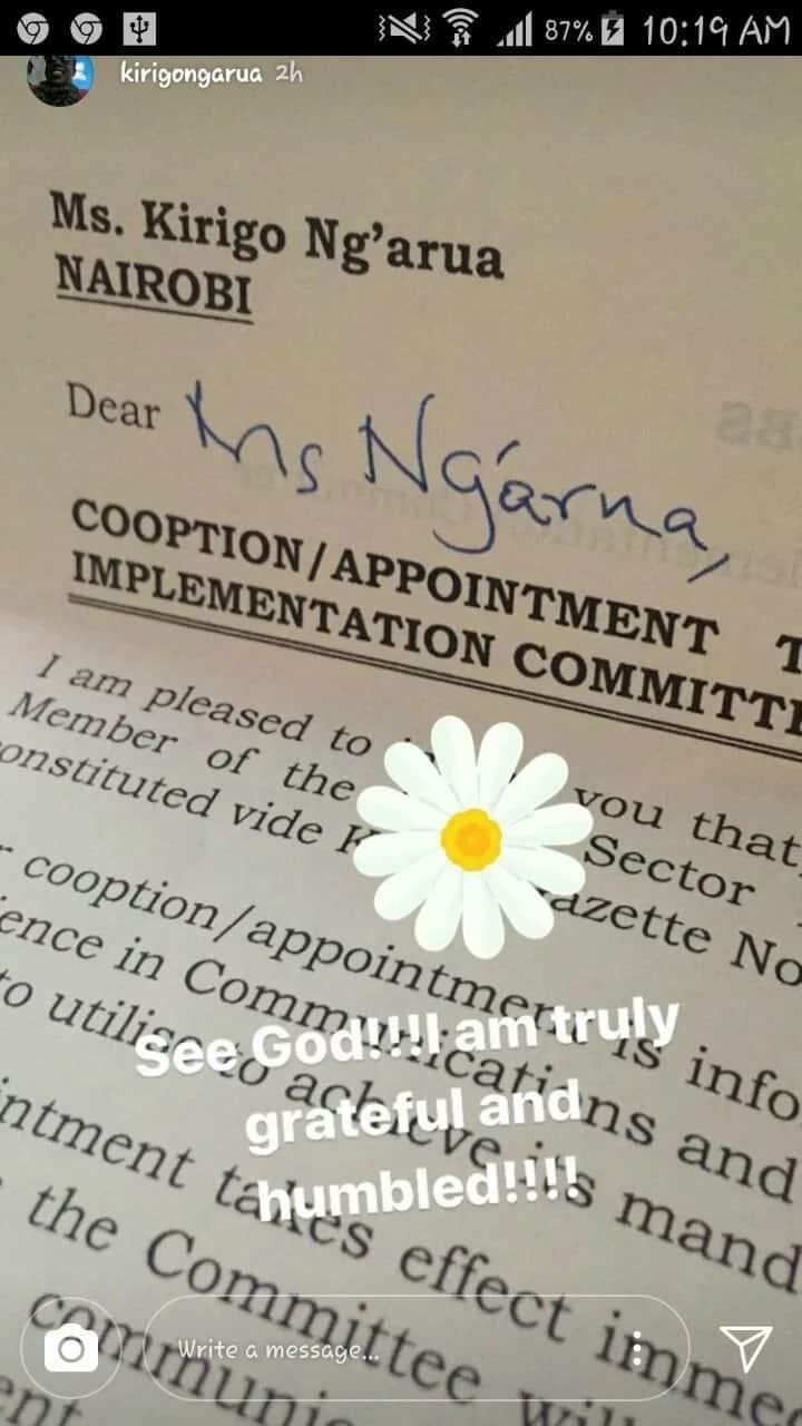 Blessings on blessings: Ex-Citizen TV Kirigo Ngarua lands new job