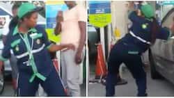 Drunk on duty! Video of female petrol attendant dancing drunkenly at work goes viral