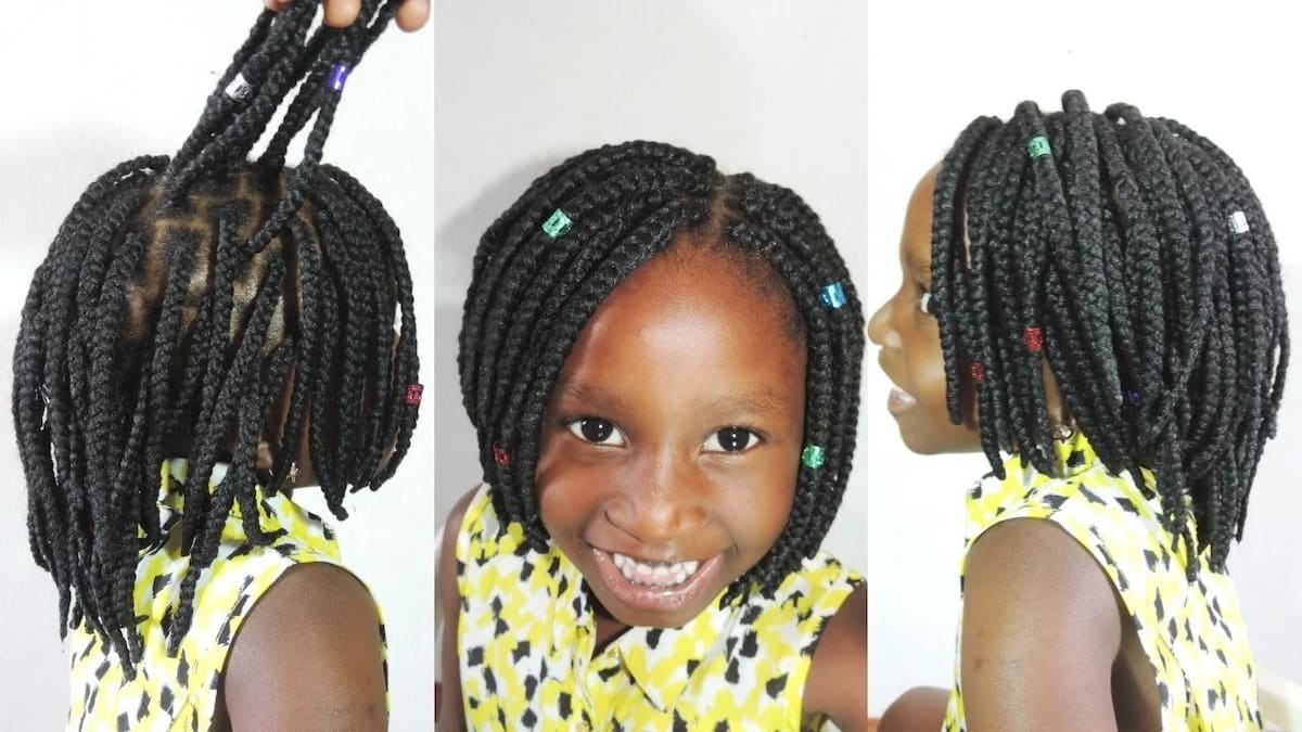 Bob box braids for kids