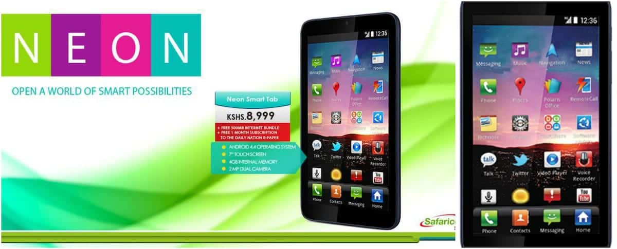 Safaricom neon smart tab review, specs, and price in Kenya
