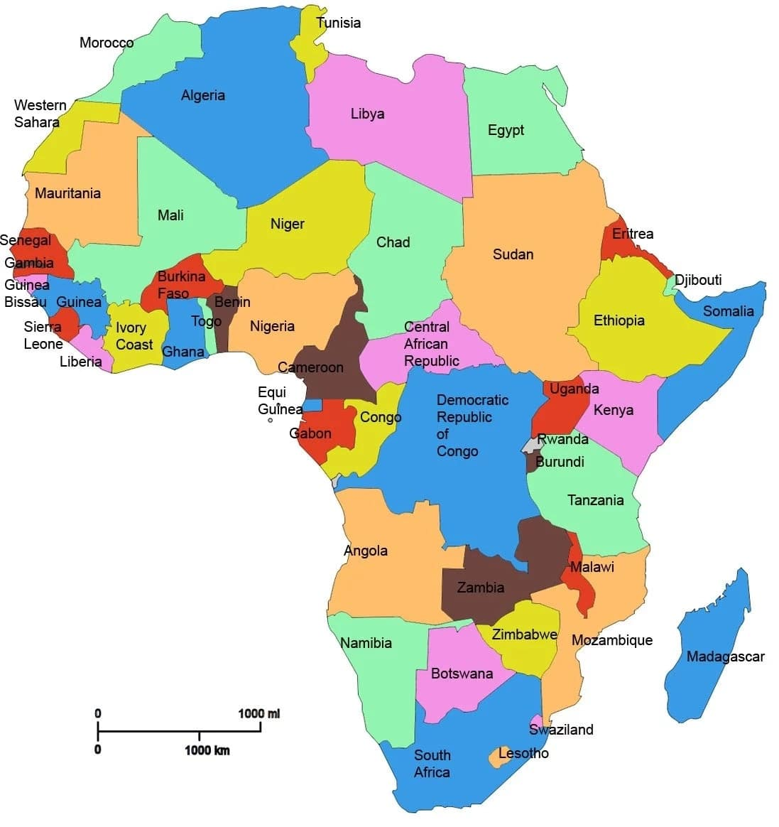 Richest countries in Africa, Top 10 richest countries in Africa, Top richest countries in Africa