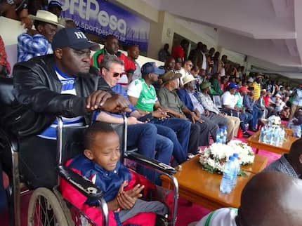 Sakaja warms hearts by taking disabled adopted son to watch Gor Mahia-Hull city game
