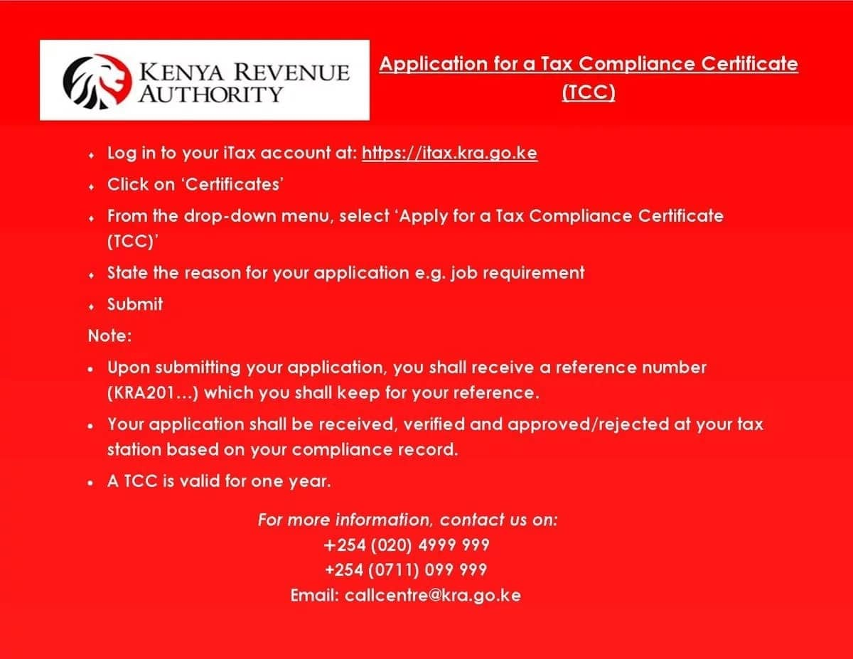 KRA tax compliance certificate