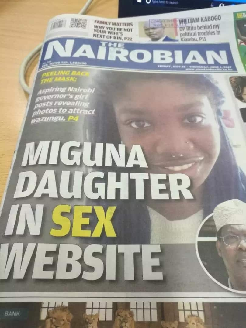 Miguna Miguna daughter pics