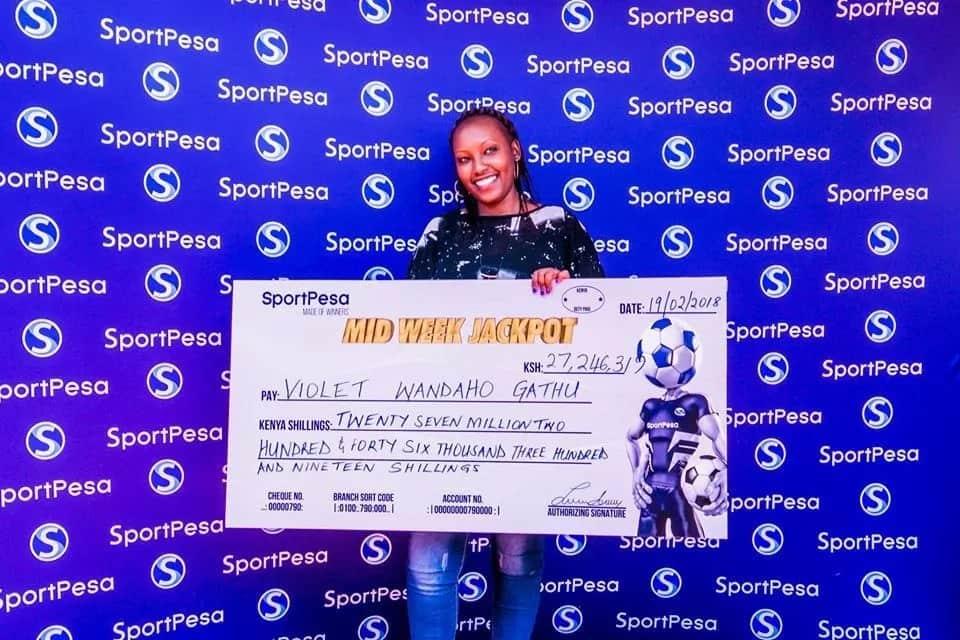 Sportpesa jackpot winner this week- Violet Wandaho