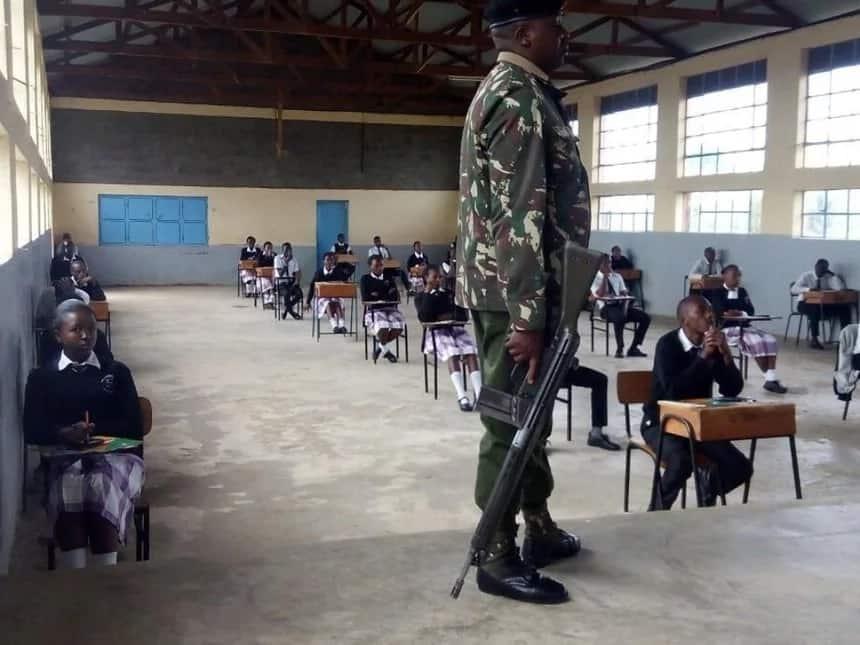 Mwalimu mkuu akamatwa baada ya kufika kuchukuwa karatasi za mtihani akiwa mlevi na kujibizana na afisa mkuu mtendaji wa TSC Nancy Macharia. Picha: Citizen