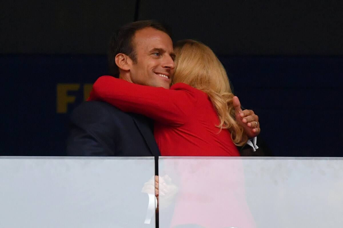 Croatian president's public display of affection with France president at World Cup is just jaw-dropping