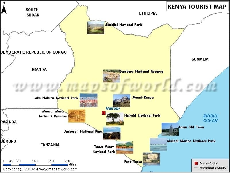 Tourist attractions in Kenya by county