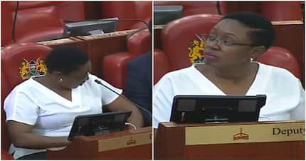 Sabina Chege's inappropriate dressing disturbs male MPs in parliament
