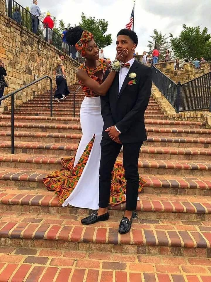 African print prom dress designs