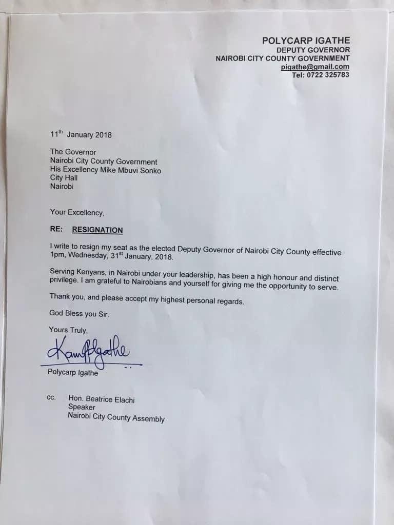 Nairobi deputy governor Polycarp Igathe resigns- cites frustrations from Governor Sonko
