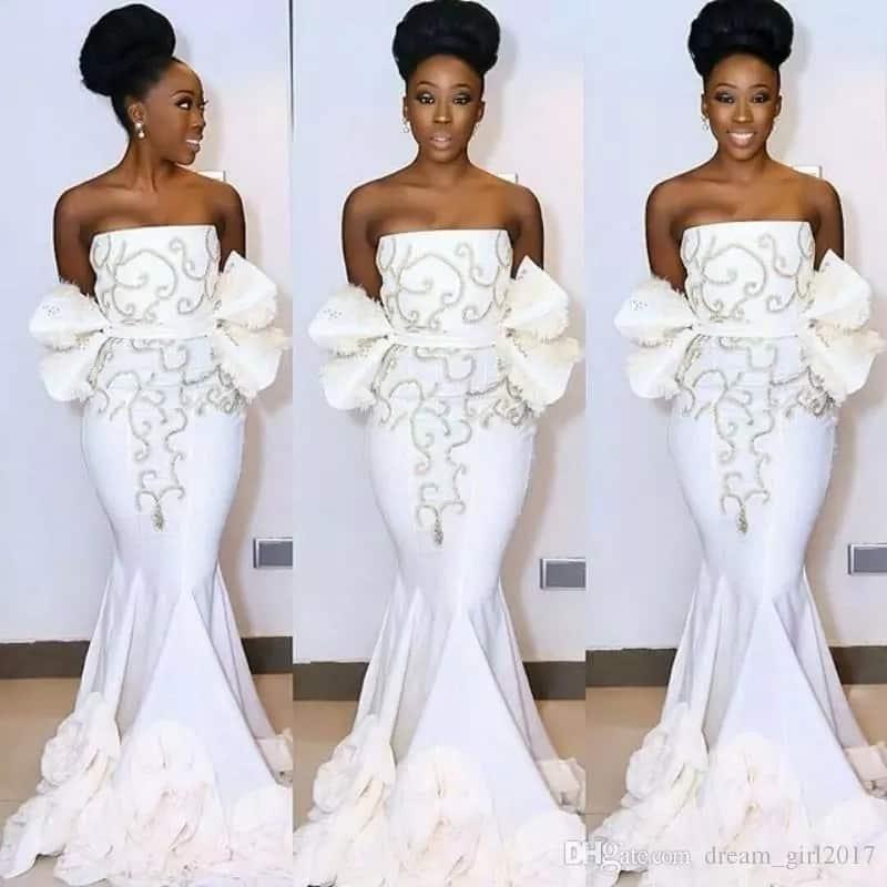 Kitenge designs for ladies - flowy mermeid gown