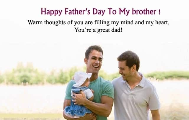 Happy fathers day bro