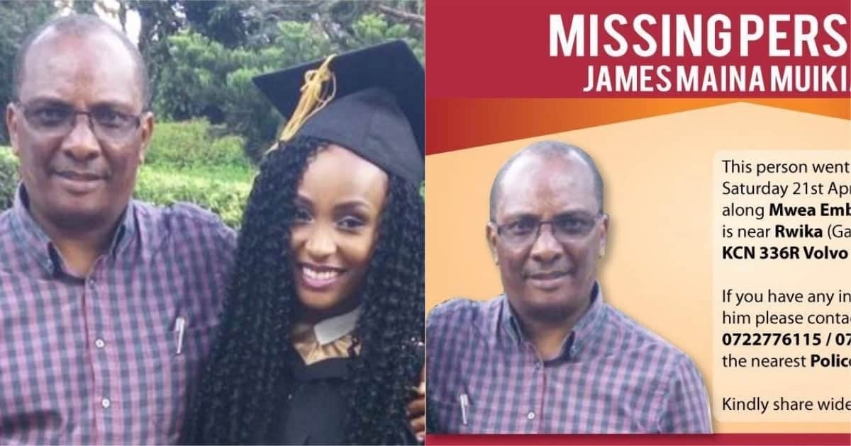 Father of actress Joyce Maina found dead in river after missing for 5 months