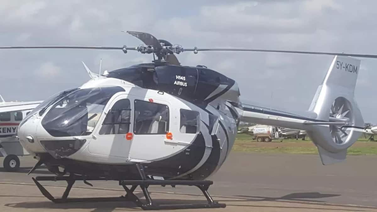 William Ruto's military-like chopper arrives in Kenya after customisation