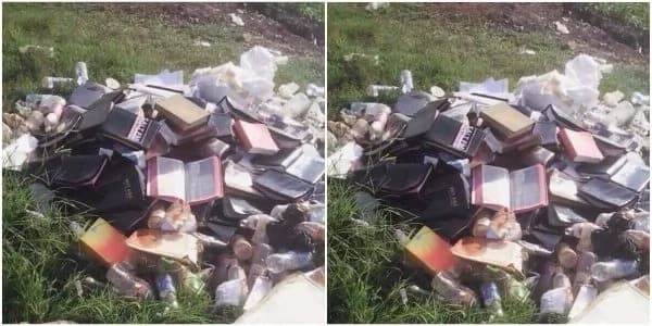 Pastor burns tens of bibles for the most bizarre reason