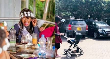 Photo of Lilian Muli on a stroll with newborn son days after delivery lights up social media