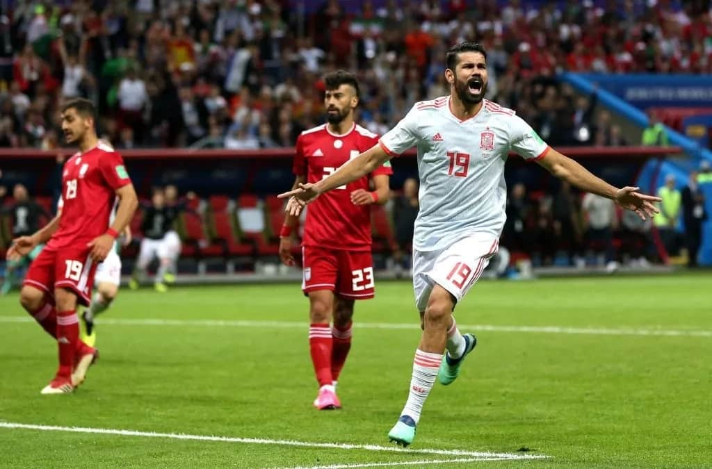 Costa secures Spain's first win with a 1-0 victory over Iran
