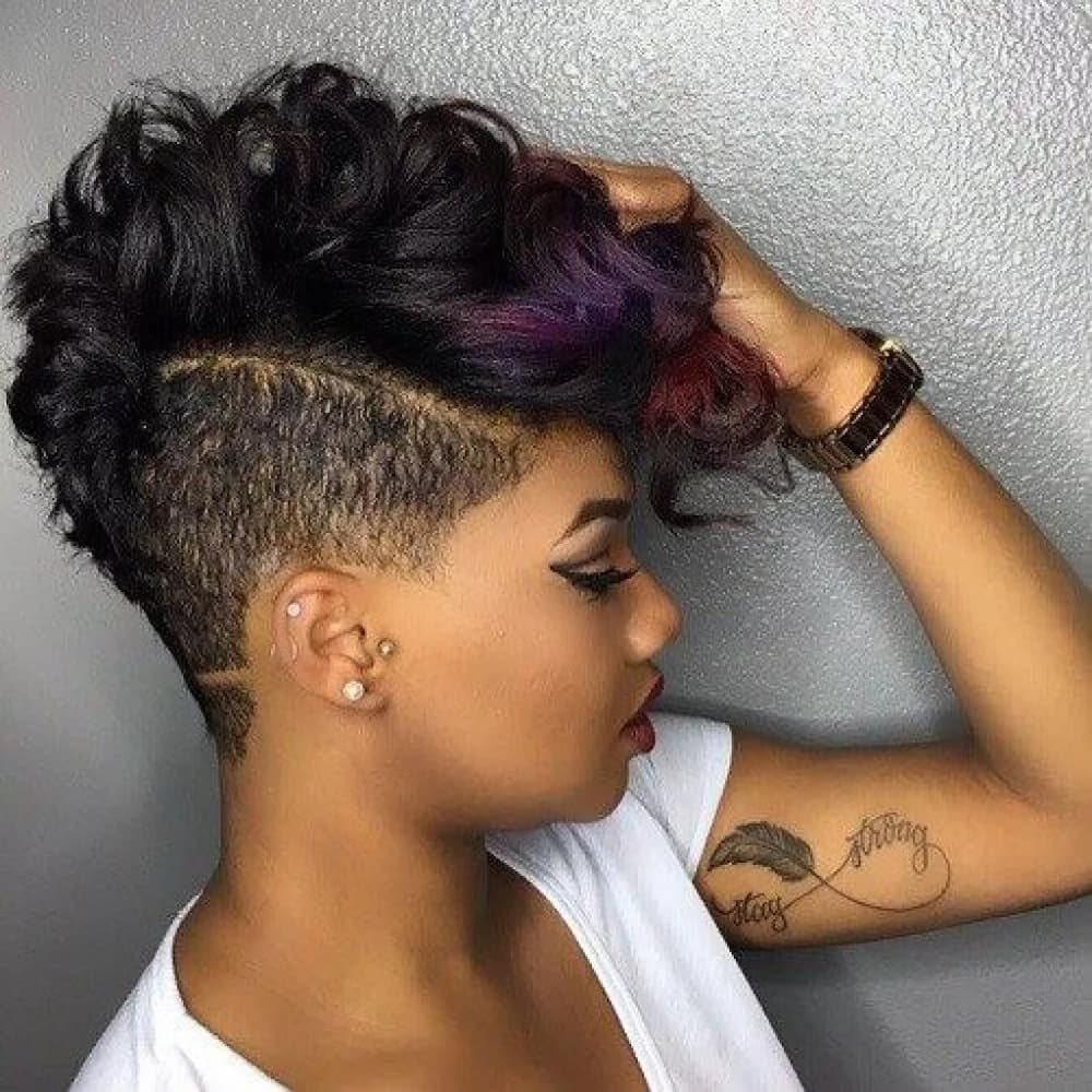 Short African hairstyles weave