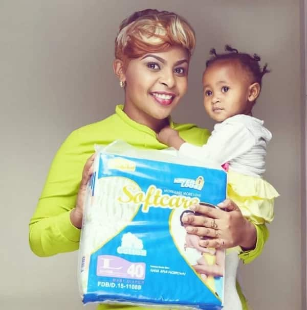 Size 8 and her beautiful daughter Ladasha Belle Wambui. Photo:Instagram/Size 8
