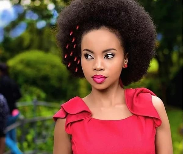 Actress Brenda Wairimu parades her yellow yellow hips and men will surely love the view