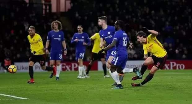 Merciless Watford demolish Chelsea 4-1 asTiemoue Bakayoko sees red