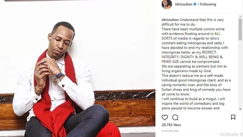 Wema Sepetu's ex, Idris Sultan badly mocks Zari after dumping Diamond