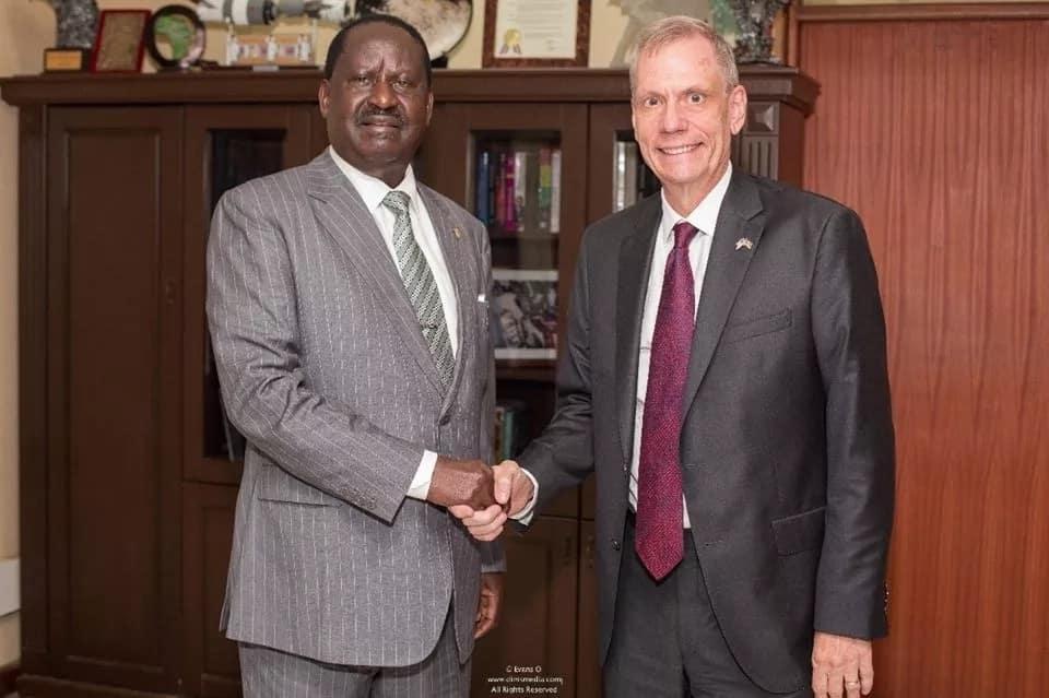 Balozi wa Marekani akutana na Raila siku chache baada ya mkataba wa jumba la Harambee