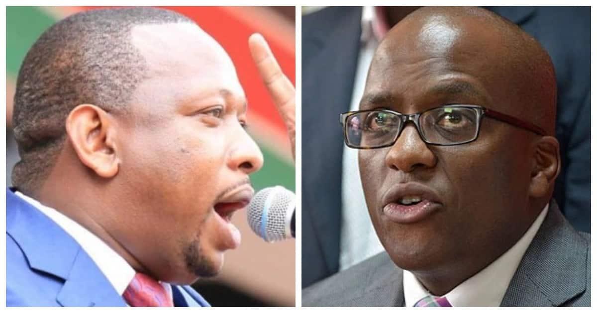 Nairobi County Governor Mike Sonko (left) and ex-deputy governor Polycarp Igathe (right).
