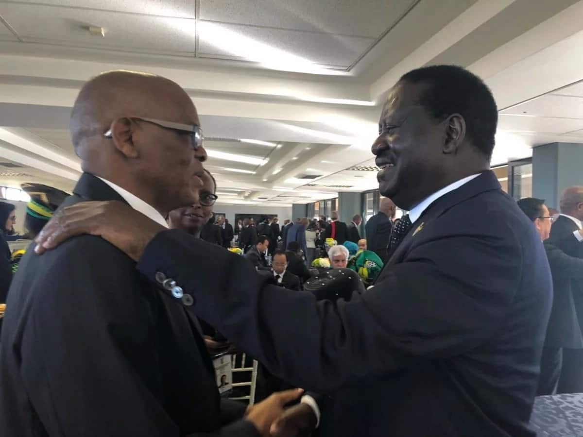 Raila Odinga joins South Africans during iconic Winnie Mandela's emotional funeral