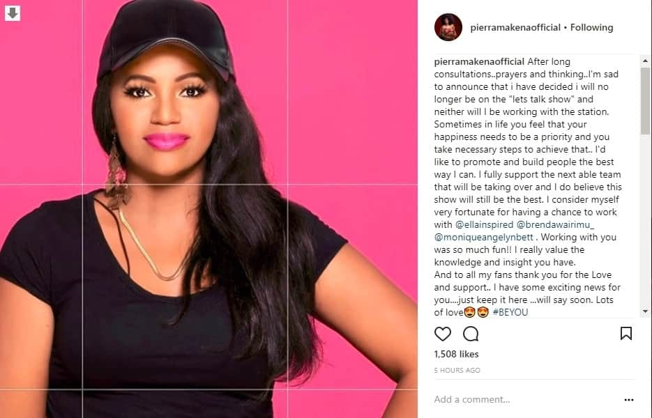 Well-endowed DJ Pierra Makena leaves fans at crossroads, ditches work at Ebru TV barely days after turning 37