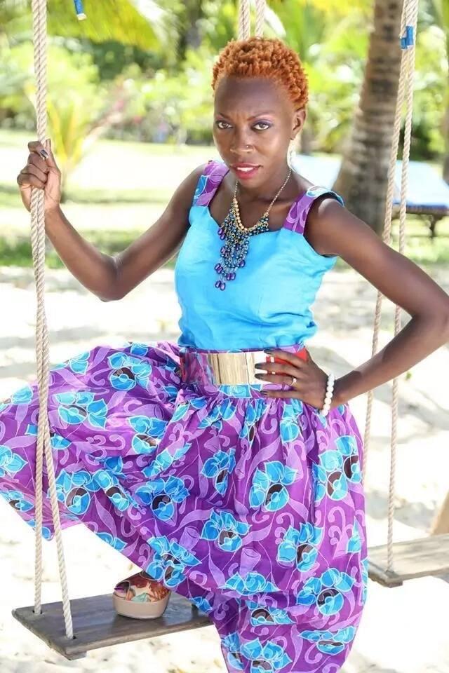 Kenyan award winning model who was initially called Monkey