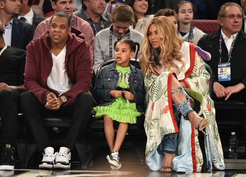 The couple with their first child, Blue Ivy. Photo: POPSUGAR