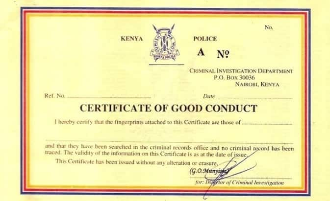 Nairobi man caught by detectives making fake good conduct certificate