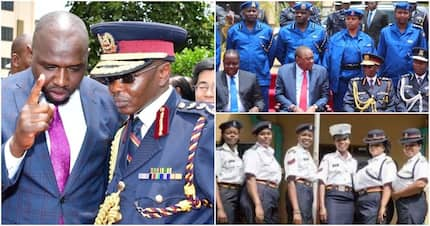 The new command structure of National Police following changes commissioned by Uhuru