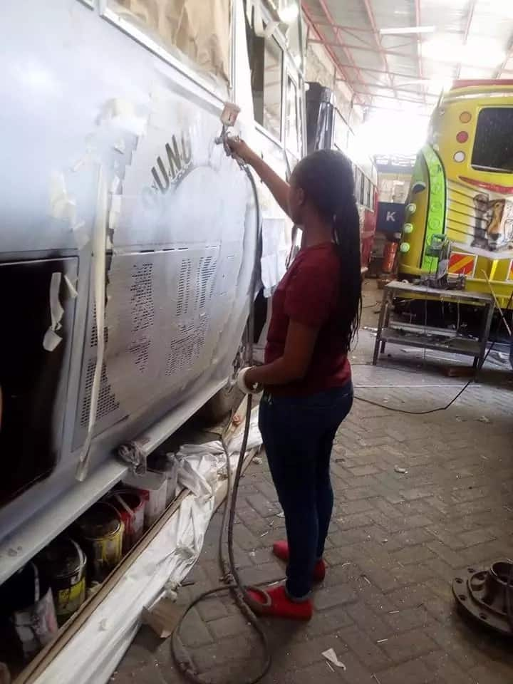 This lady is taking Kenya's matatu graffiti scene by a storm and she loves it