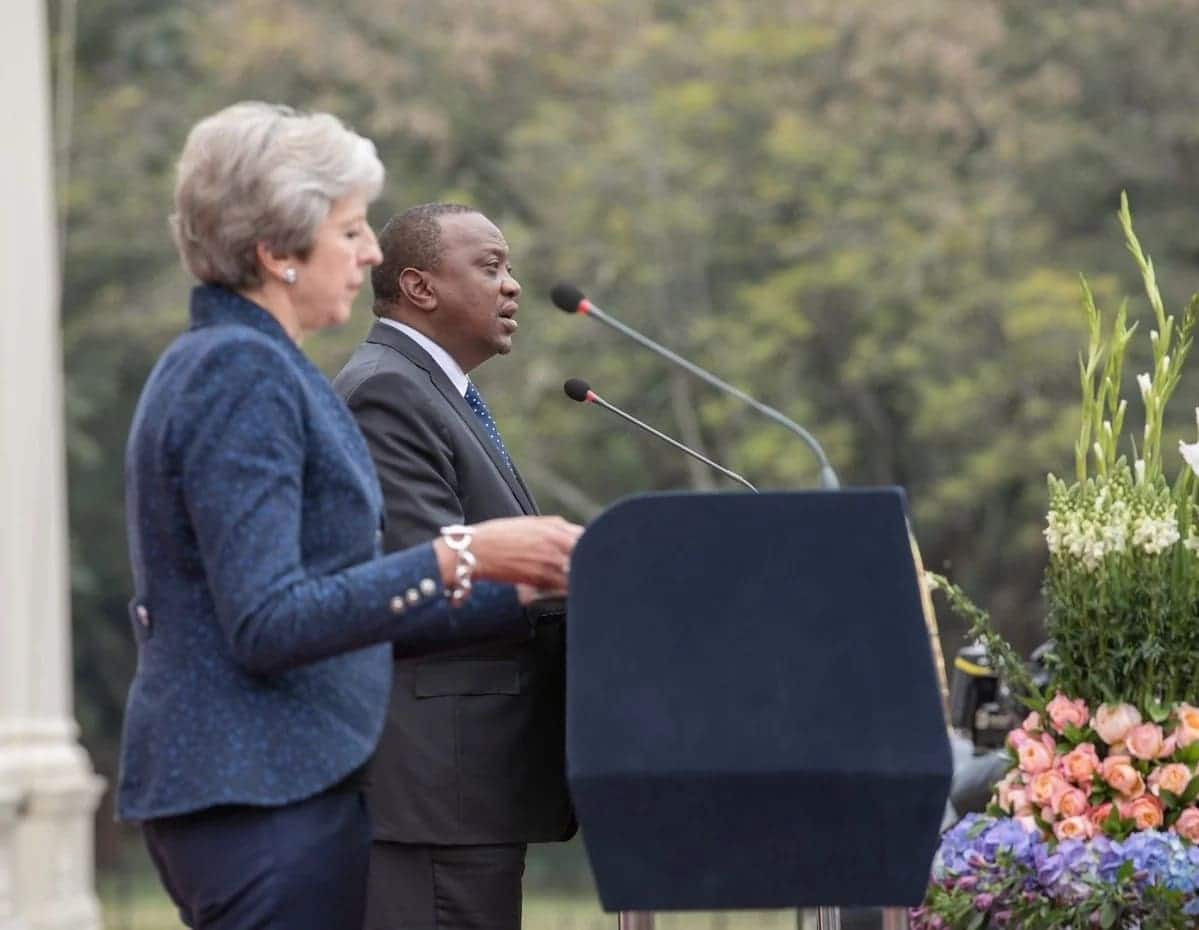 Uhuru introduces his 'brother' to British PM Theresa May in lovely fashion