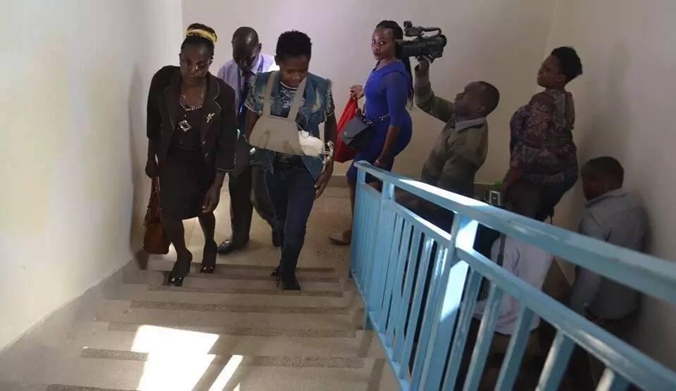 Joseph Theuri leaving Kenyatta National Hospital