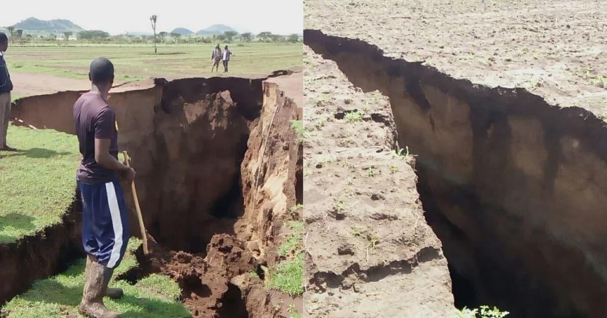Mpasuko mwingine wa ardhi washuhudiwa Naivasha, ukipasuka katikati ya mashamba