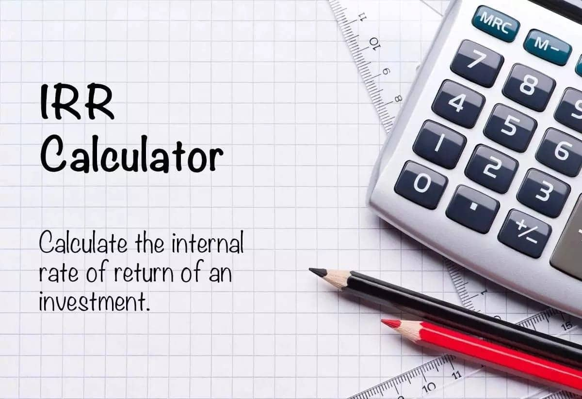 how to calculate irr internal rate of return irr formula
