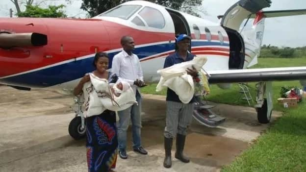 The family pictured upon their return from Kinshasa. Photo: MAF/Jacklyn Reierson
