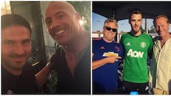 WWE legend The Rock meets Manchester United stars