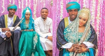 Ali Kiba's hot sister and footballer lover finally wed in colourful Swahili wedding