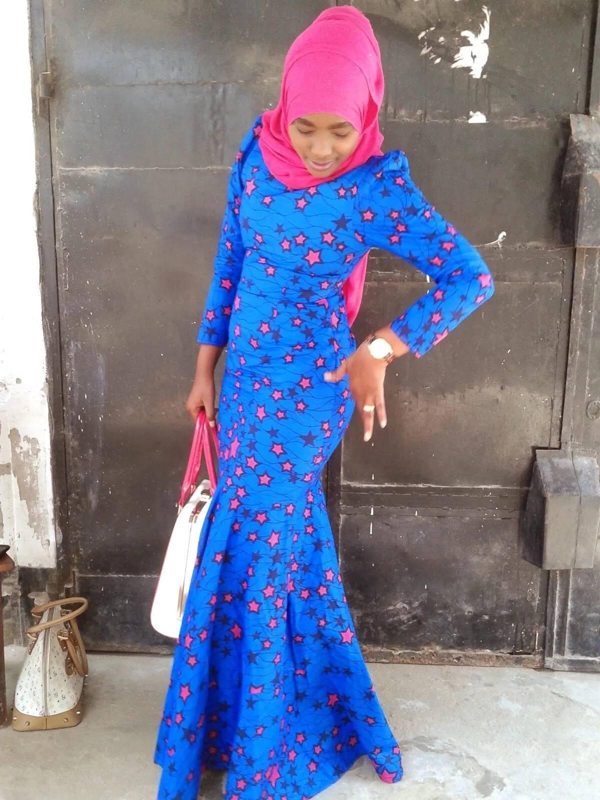 Kitenge mermeid dress designs for slim ladies