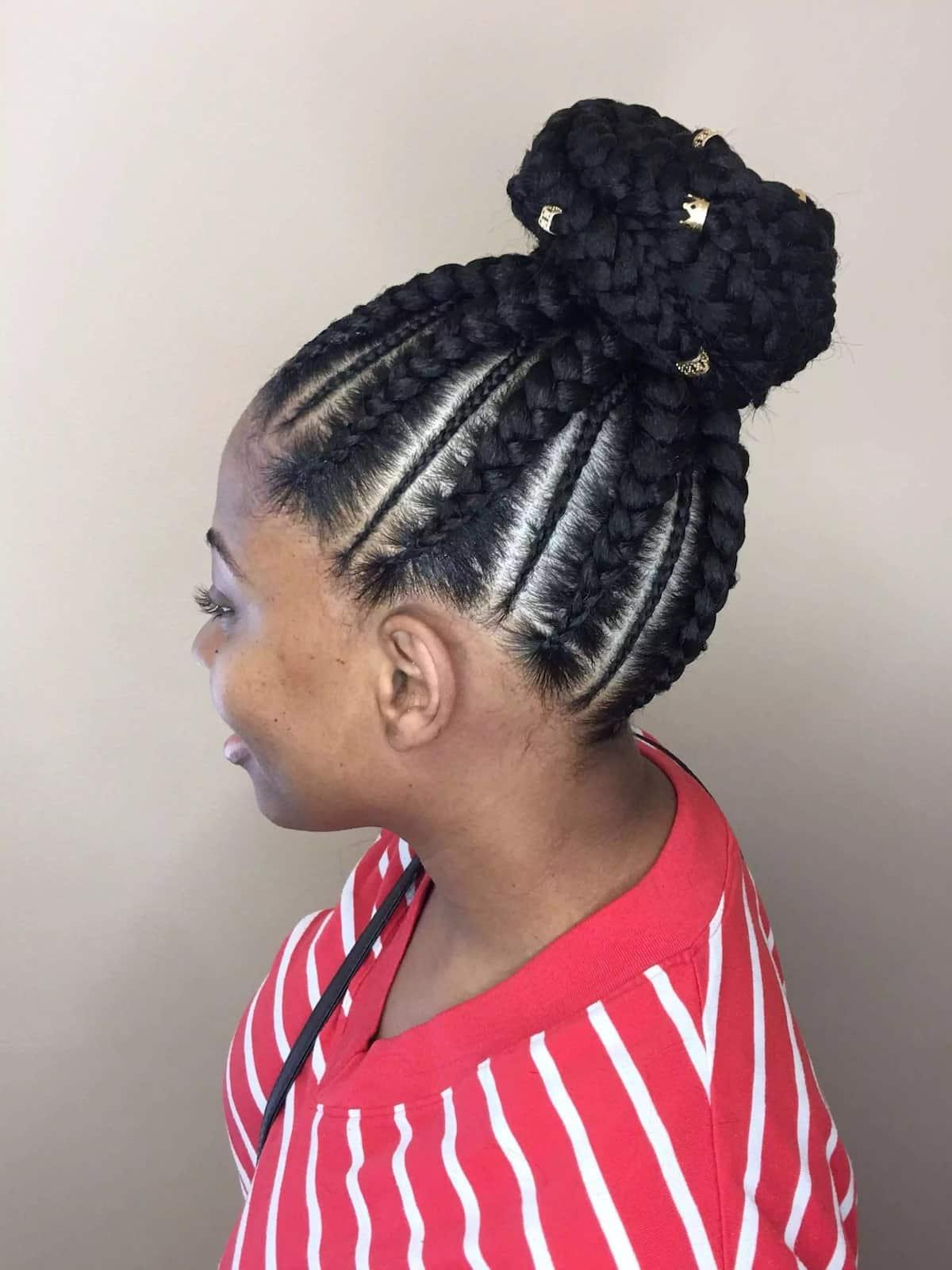 Cornrow braid updo hairstyles Cornrow braid hairstyles for short hair Cornrow braid hairstyles for natural hair
