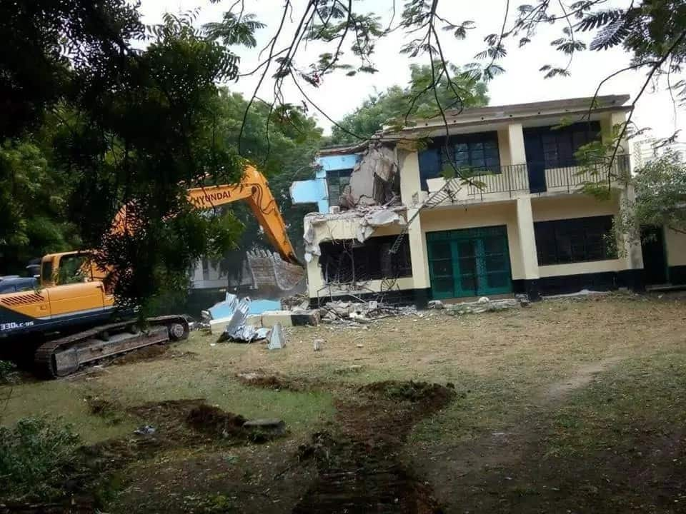 The house the was allegedly demolished by Mombasa County government.