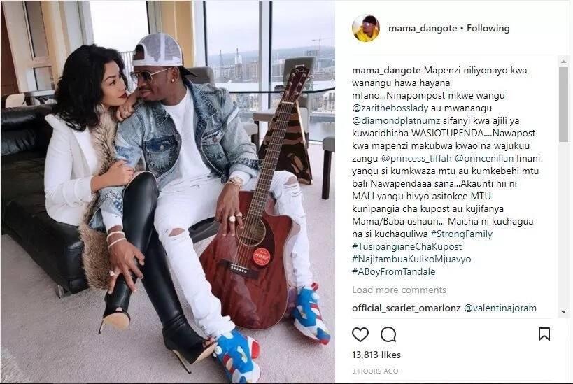 Diamond's mum tells off fans demanding her to post photos of her son's Mpango wa Kando