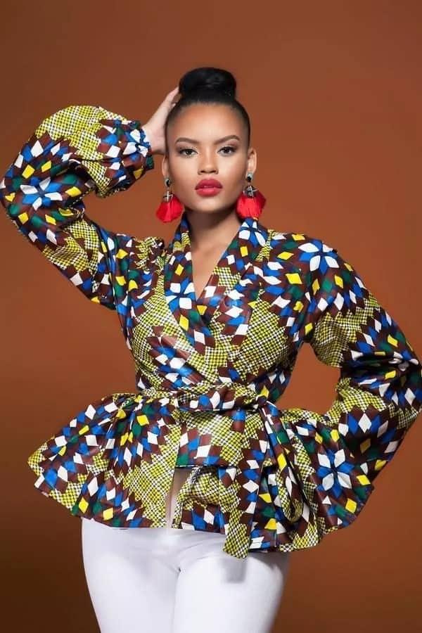Kitenge tops designs for breastfeeding mothers