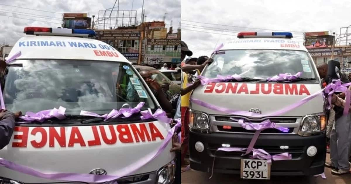 Young Embu MCA gifts constituents with an ambulance after refusing to buy himself a car