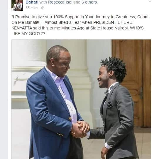 Bahati opens up about his recent conversation with the president